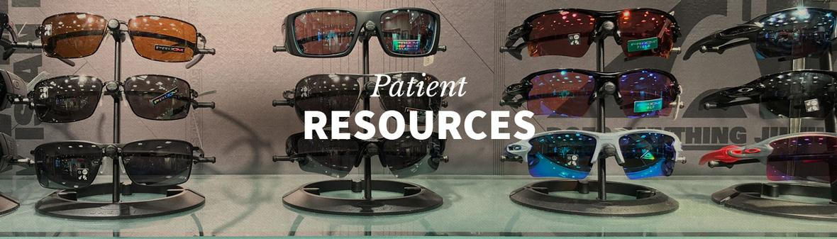 Banner picture of the Patient Resources page for Vision Care Associates